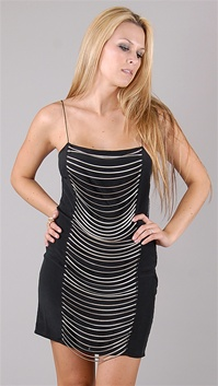 Sheri Bodell Black Snake Chain Dress