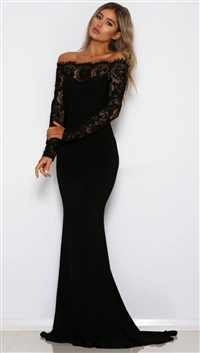 Abyss By Abby Black 'Shaid' Maxi Dress