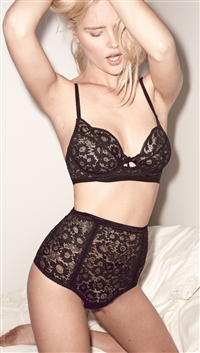 For Love & Lemons Black 'Daisy' Underwire Bra