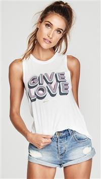Spiritual Gangster Stardust 'Give Love' Tank Top
