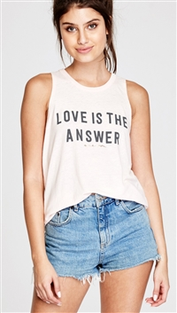 Spiritual Gangster Pink Sand 'Love is the Answer' Open Back Tank Top