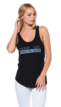 goodhYOUman Black Tracy Sleep 'Less Dream More' Tank Top