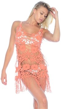 For Love & Lemons Dune 'Valencia' Crochet Dress/Cover Up