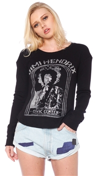 Daydreamer Black 'Jimi Hendrix @ Civic Center' Long Sleeve Top