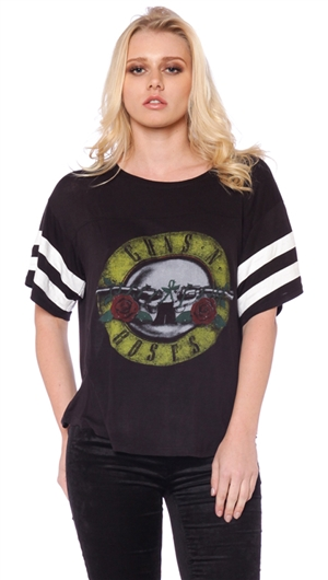 Daydreamer Black 'Vintage Guns N Roses' Top