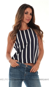Townsen Navy Stripe Top