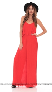Lovers + Friends Red 'Walk In The Park' Jumpsuit