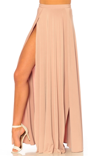 Abyss By Abby Latte 'Vamp' Maxi Skirt