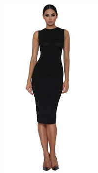 Abyss By Abby Black 'Vanity' Midi Dress