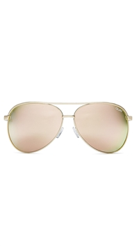 Quay Gold Frame/Rose Mirror Lens 'Vivienne' Sunglasses
