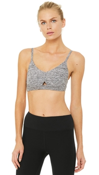 Alo Dove Heather Grey 'Lounge' Bra