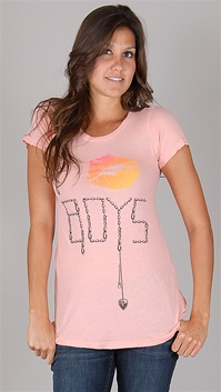 WildFox Coral I Kiss Boys Tee
