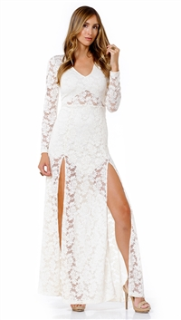 Nightcap Ivory Jirape Lace Gown