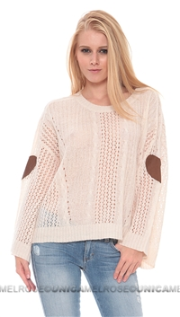 Wildfox Creme 'Lost' Sweater