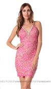 Baccio Couture Fuchsia & Gold Zara Mini Dress