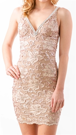 092c5276944 Baccio Couture Nude Zara Mini Dress