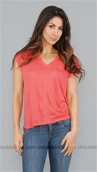 Chaser Bright Coral Hi-Lo Boxy Tee