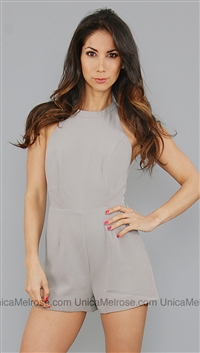 Bec & Bridge Warm Grey Palazzo Playsuit