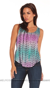 Lovers + Friends Tiedie Tank Top With Back Braid Cut Out Detail