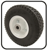 #8A  Flat Free Solid Foam Wheel Assy. With Bearing Fits Single Wheel Velke