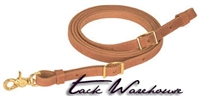 "Harness Leather Flat Roper Rein, 5/8"" x 7'"