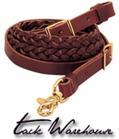 "Latigo Leather 3-Plait Roper Rein, 5/8"" x 7' or 8'"