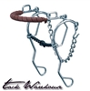 Combination Hackamore with Sweet Iron Twisted Wire Snaffle Mouth