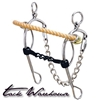 "Hackamore with 5"" Sweet Iron Combination Mouth Gag"