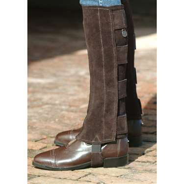 Ovation® Suede Half Chaps with hook and loop closures -  Ladies'