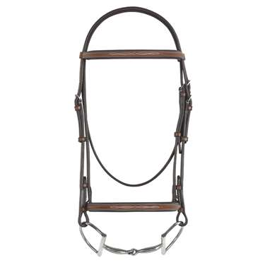 Rodrigo Pessoa® Fancy Stitched Padded Raised Bridle with Raised Fancy Stitched Laced Reins