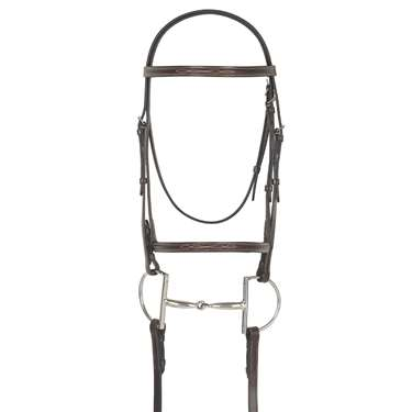 Camelot Gold™ Fancy Stitched Raised Bridle with Laced Reins