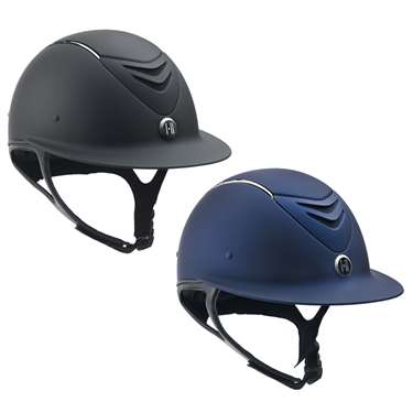 One K� Defender AVANCE Wide Brim Chrome Stripe Helmet