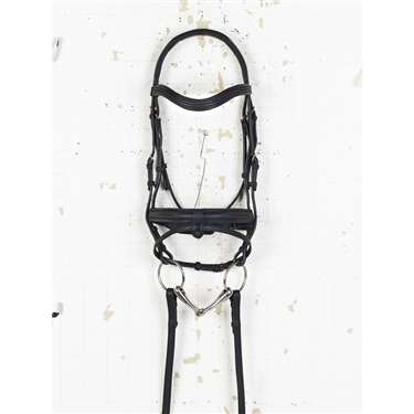 Ovation® Rosegold Dressage Bridle with Crank Noseband and Flash
