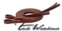 ProTack® Burgundy Latigo Leather Split Reins with Popper Ends