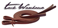 ProTack® Burgundy Latigo Leather Split Reins with Weighted Ends