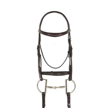 Ovation&reg Breed Fancy Stitched Raised Padded Bridle- Draft Cross