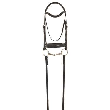 Camelot Gold™ RCS™ Snaffle Dressage Bridle with Crank Noseband and Reins
