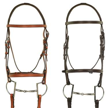 Aramas® Plain Raised Padded Bridle with Raised Rubber Grip Reins