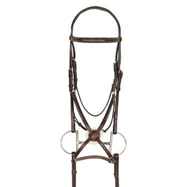 Aramas® Fancy Raised Padded Figure-8 Bridle with Rubber Grip Reins