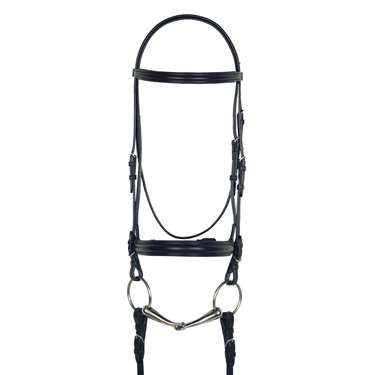 Aramas® Plain Raised Padded Dressage Bridle with Leather Reins