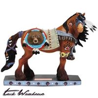Bear Chief Horse Figurine
