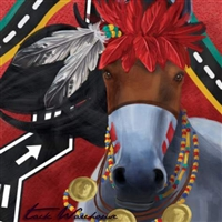 Hopi Snake Dancer Horse Canvas Wall Art 15x15