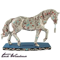 Jeweled Butterflies Horse Figurine
