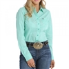 WOMEN'S CINCH LONG SLEEVE PRINT BUTTON DOWN SHIRT