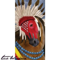 Pawnee Warrior Horse Canvas Wall Art