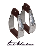 Aluminum Stirrups with Engraved Band, Visalia
