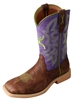 Twisted X Youth Hooey NWS Toe - Brown Shoulder/Purple