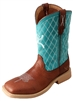 Twisted X Youth Hooey NWS Toe - Cognac/Turquoise