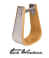 "Wooden Stirrups, Bell, 5"" Tread"