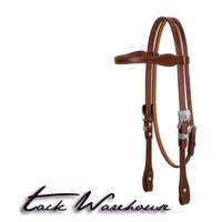 Bridle Leather Tapered Browband Headstall